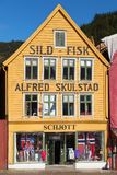 Sild-Fisk Shop in Bryggen Stock Images