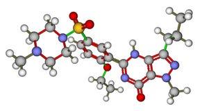 sildenafil cząsteczkowa struktura Viagra ilustracja wektor