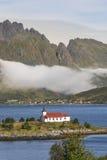 Sildpollnes Church in Austvagooya, Norway Royalty Free Stock Photos