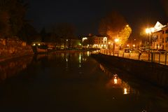 Sile river in Treviso, Italy Stock Photo
