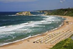 Sile Strand, Istanbul, die Türkei Stockbild