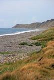 Silecroft strand Arkivbild
