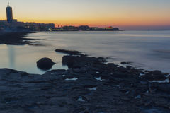 Silema strand i Malta Fotografering för Bildbyråer