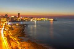 Silema strand i Malta Royaltyfria Bilder