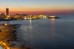 Silemawaterkant in Malta Stock Afbeelding