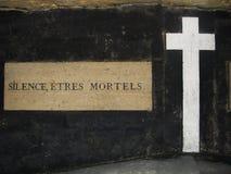Silence, êtres mortels Photo stock