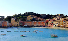 Silence bay to Sestri Levante Stock Images
