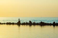 Silence breakwater Stock Photos