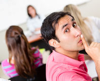 Silence in the classroom Stock Image