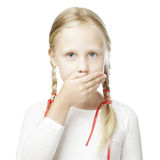 Silence concept silent child Royalty Free Stock Photo