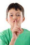 Silence de commande d'enfant adorable Photo libre de droits