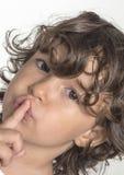 Silence de petite fille Photographie stock libre de droits