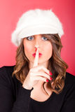 Silence Gesture Royalty Free Stock Photography