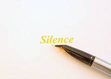 Silence is golden. Royalty Free Stock Images