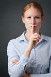 Silence or Keep a Secret in Business Stock Photography