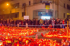 Silence march in memory of victims from Colectiv Club Royalty Free Stock Photography