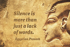 Silence is more EP Stock Image