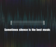 silence quote background Stock Photography