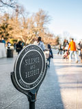 Silence and Respect. At the Kennedy Gravesite Stock Image