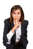 Silence sign Royalty Free Stock Photo