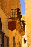 Silence streets of Maltese cities. Old town. Malta sightseeing. Silence streets of Maltese cities. Old town. Mdina Stock Photos
