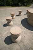 Silence table-rock sculpture by Brancusi Stock Photos