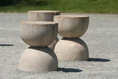 Silence table-rock sculpture by Brancusi Royalty Free Stock Image