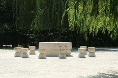 Silence table-rock sculpture by Brancusi Stock Image