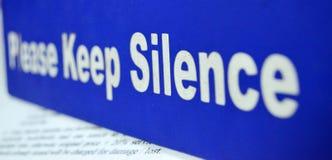 Silence zone Royalty Free Stock Image