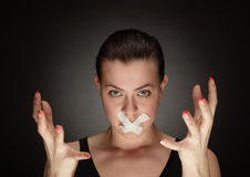 Silenced royalty free stock photography