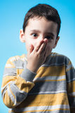 Silenced child Royalty Free Stock Images