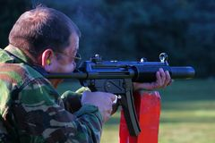 Silenced Machine Gun royalty free stock photos