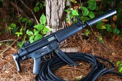 Silenced rifle Stock Photos