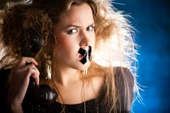 Silenced woman Stock Images