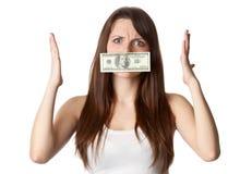 Silenciado por el dinero Foto de archivo