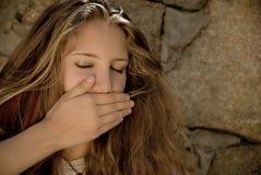 Silencio adolescente Imagen de archivo libre de regalías