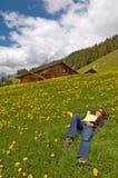 Silencio de la montaña Imagen de archivo