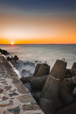 Silencio en la puesta del sol Imágenes de archivo libres de regalías