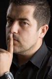Silencio, es un secreto Fotos de archivo
