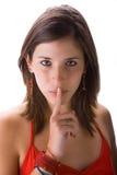 Silencio por favor Fotos de archivo libres de regalías
