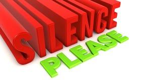 Silencio por favor Foto de archivo
