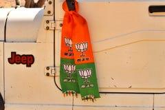 Silencioso de BJP amarrado durante eleições Foto de Stock