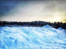 Silend in de sneeuw Royalty-vrije Stock Foto