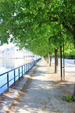 Silent avenue in Fontainebleau Royalty Free Stock Photography