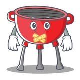 Silent Barbecue Grill Cartoon Character Royalty Free Stock Photography