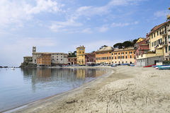 Silent bay in Sestri Levante Stock Photography