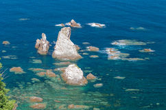 Silent Beach Cliffs, Spain Stock Image