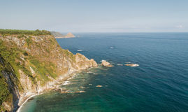 Silent Beach Promontory, Spain Royalty Free Stock Photography