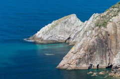 Silent Beach Promontory, Spain Royalty Free Stock Photos