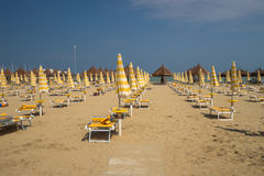 The silent beach in the seashore of the Adriatic Sea of Italy Royalty Free Stock Image